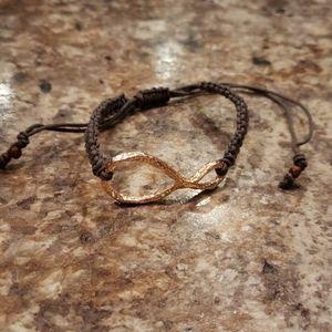 Grey infinity bracelet